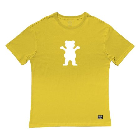 Camiseta Grizzly OG Bear Tee Masculina Amarelo