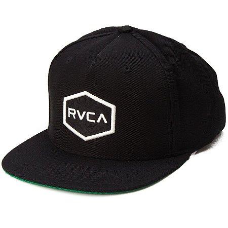 Boné RVCA Preto Aba Reta Snap Cwealth Class R