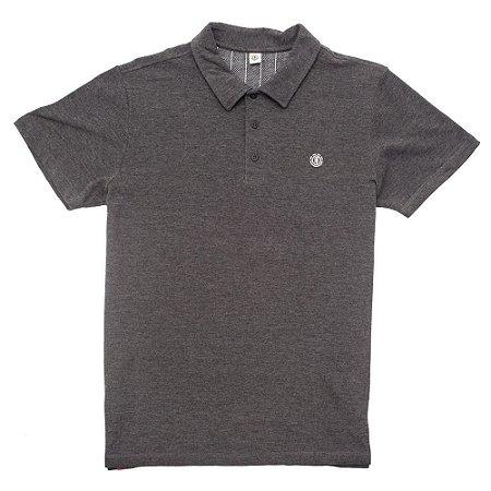 Camisa Polo Element Logo Cinza Escuro