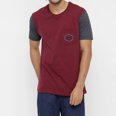 Camiseta RVCA Essential Vinho/Cinza