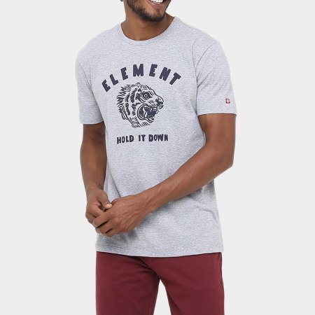 Camiseta Element Hold It Down Cinza