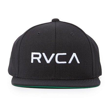 Boné RVCA Snap Twill Class C Preto/Branco