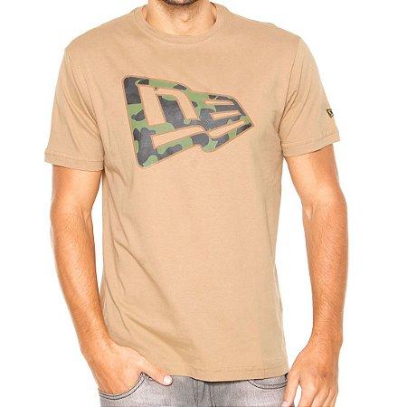 Camiseta New Era Camu Militar Caqui