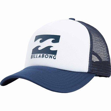 Boné Billabong Podium Trucker Branco Azul - Radical Place - Loja ... 47b175cd665
