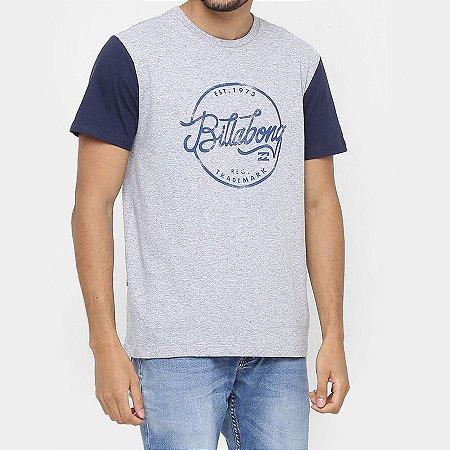 Camiseta Billabong Sloop Cinza/Marinho