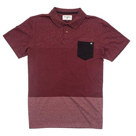 Camisa Polo Billabong Color Shades Vinho