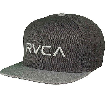 Boné RVCA Snap Twill Class C Cinza Claro