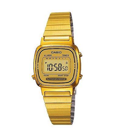 d616dbd0396 Relógio Casio Vintage LA670WGA Dourado - Radical Place - Loja ...