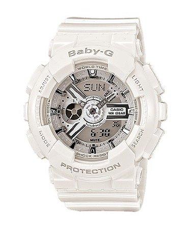 Relógio Baby-G BA-110 Branco/Prata