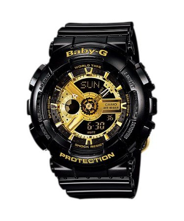 Relógio Baby-G BA-110 Preto/Dourado