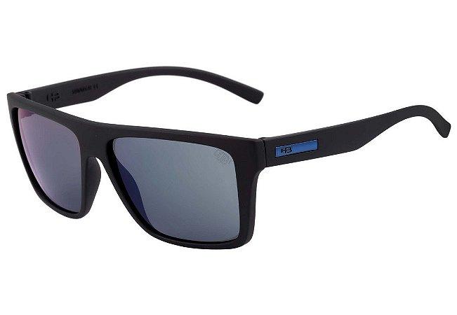 Óculos de Sol HB Floyd Matte Black   Blue Chrome