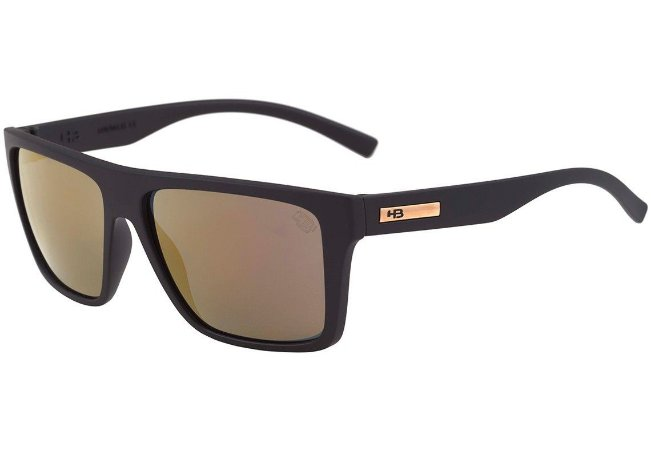 Óculos de Sol HB Floyd Matte Black   Gold Chrome - Radical Place ... 62dfcac24b