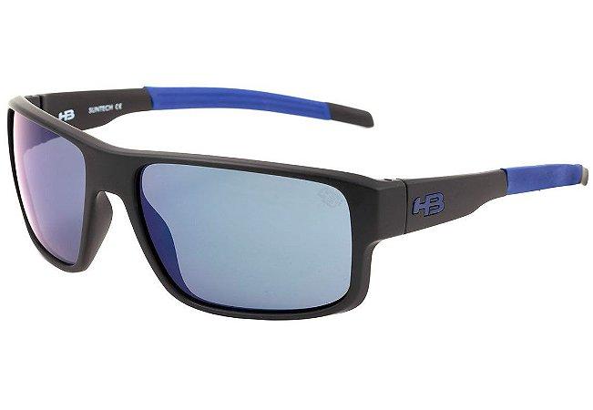 Óculos de Sol HB Epic Matte Black / D. Blue | Blue Chrome