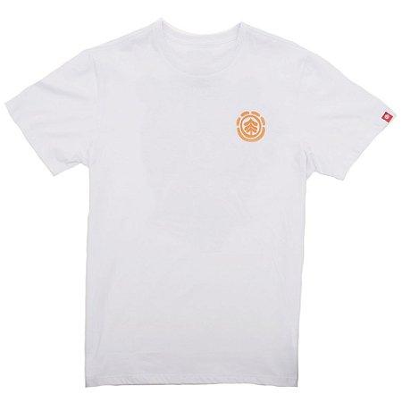 Camiseta Element Bronze Branca/Laranja