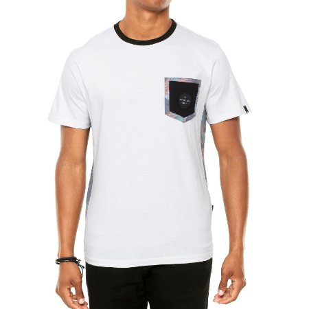 Camiseta Quiksilver Floral Lateral Off White