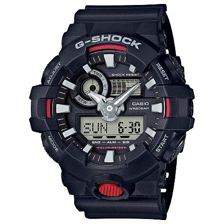 Relógio G-Shock GA-700 Preto/Vermelho