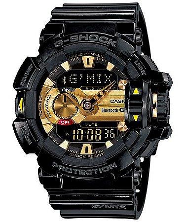 Relógio G-Shock GBA-400 Preto/Dourado