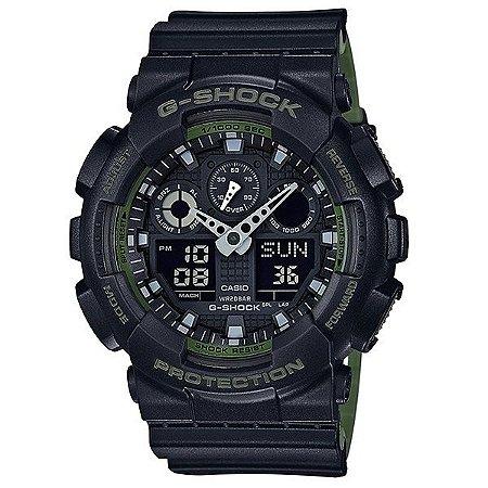 Relógio G-Shock GA-100L Preto/Verde