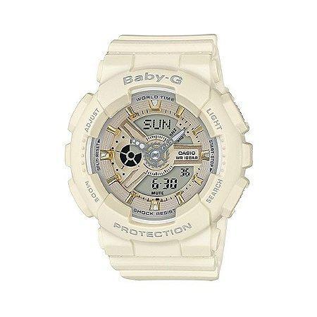 Relógio Baby-G BA-110GA Branco/Dourado