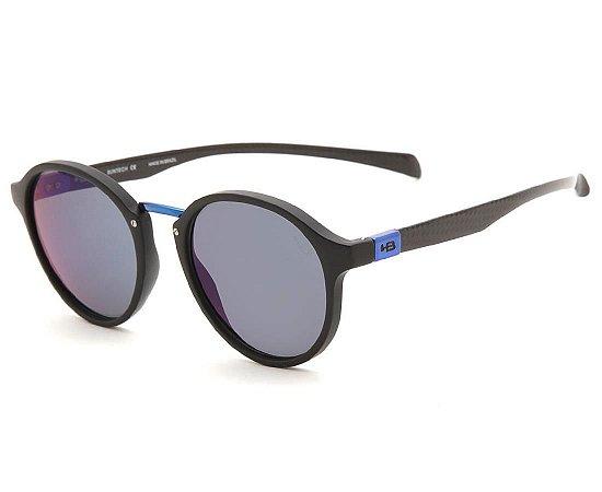 Óculos de Sol HB Brighton Matte Black D. Blue | Blue Chrome