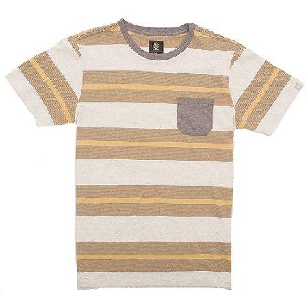 Camiseta Element Striped Amarelo/Marrom