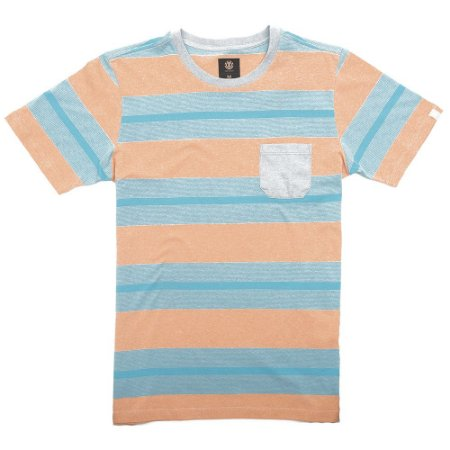 Camiseta Element Striped Laranja/Azul