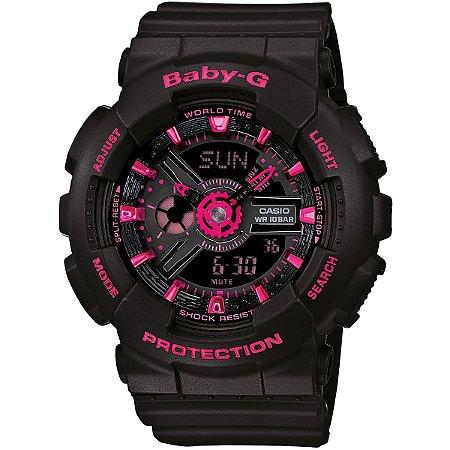 Relógio Baby-G BA-111 Preto/Rosa