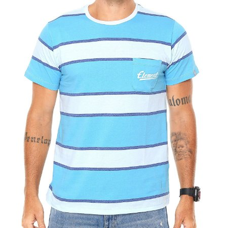 Camiseta Element Block Azul/Branco