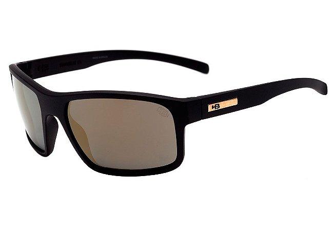 Óculos de Sol HB OverKill Matte Black I Gold Chrome