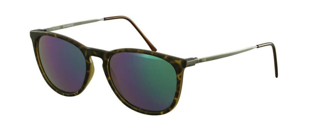 Óculos de Sol HB Tanami Matte Havana Turtle | Green Chrome