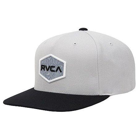 Boné RVCA Snap Cwealth Class R Cinza Claro
