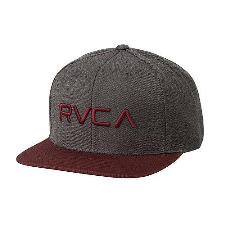 Boné RVCA Snap Twill III Cinza/Vinho