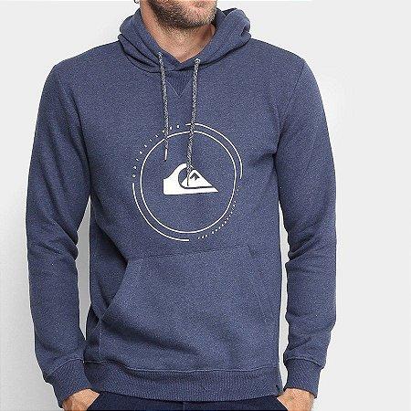 Moletom Quiksilver Big Logo Hood Azul Marinho