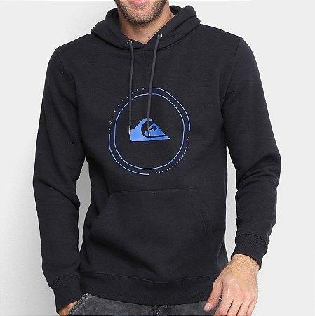 Moletom Quiksilver Big Logo Hood Preto