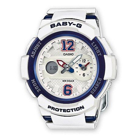 Relógio Baby-G BGA-210-7B2DR Branco/Azul