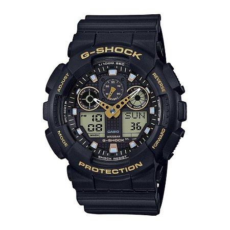 Relógio G-Shock 100GBX-1A9DR Preto/Dourado