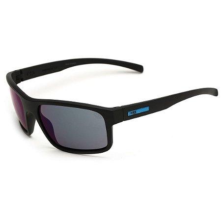 Óculos de Sol HB OverKill Matte Black / D Blue | Blue Chrome