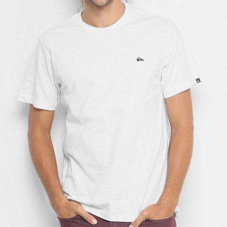 Camiseta Quiksilver Embroyed Basic Branca