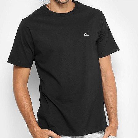 Camiseta Quiksilver Embroyed Basic Preta