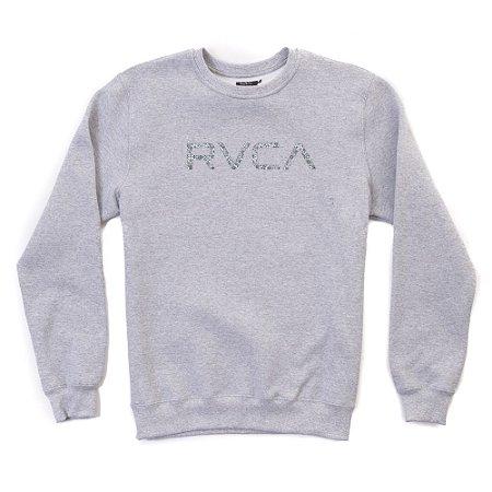 Moletom RVCA Jit Crew Cinza