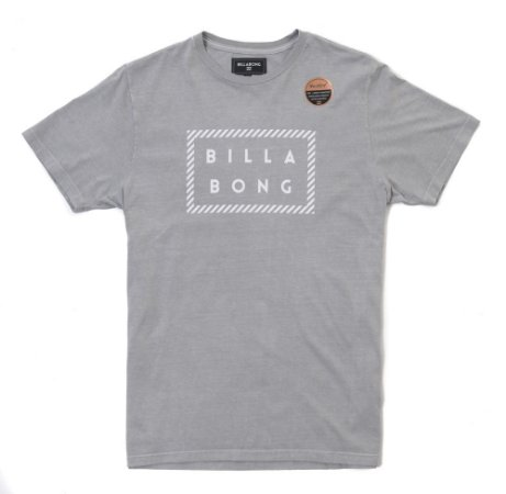 Camiseta Billabong Front Die Cut Cinza