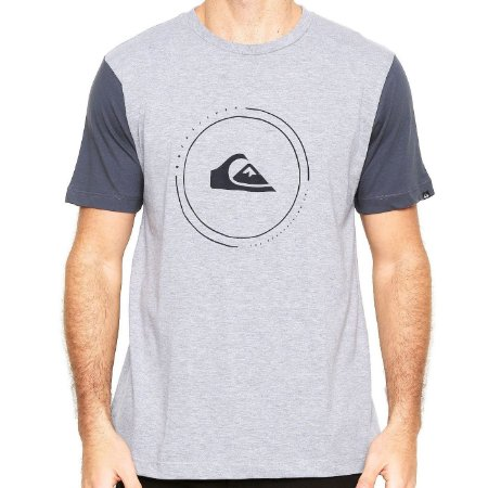 Camiseta Quiksilver Big Logo Cinza Claro