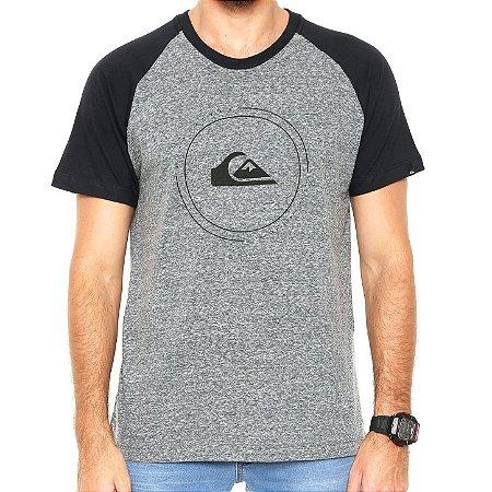 092924750ea Camiseta Quiksilver Especial Raglan Pack III Cinza Preto - Radical ...