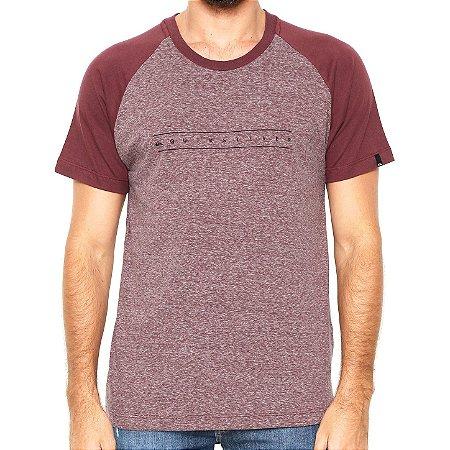 Camiseta Quiksilver Especial Raglan Pack III Vinho
