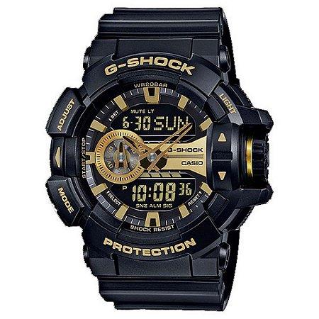 Relógio G-Shock GA-400GB-1A9DR Preto/Dourado
