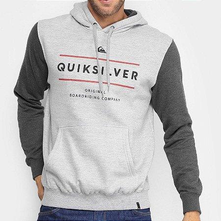 Moletom Quiksilver Reverso Surfo Cinza
