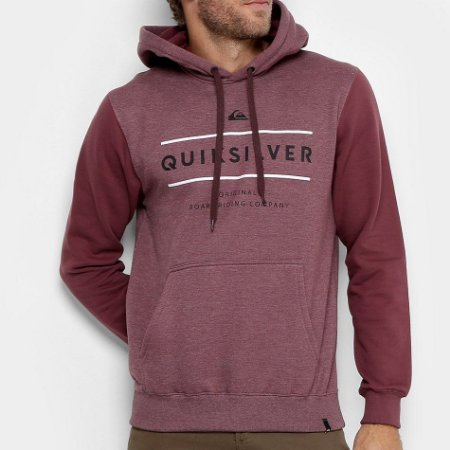 Moletom Quiksilver Reverso Surfo Vinho