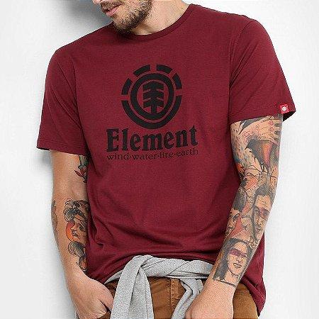 Camiseta Element Vertical Vinho
