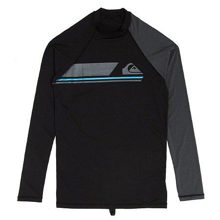 Camiseta Surf Lycra Quiksilver Manga Longa Active LS Preta