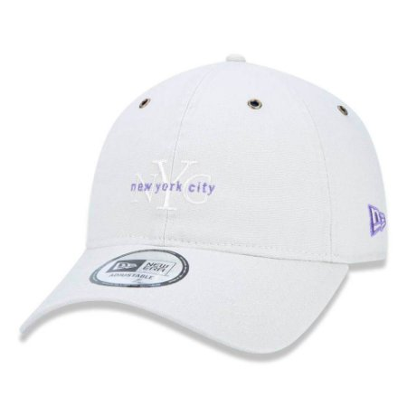 Boné New Era 940 NYC New York City Washed Duck Canvas Off White